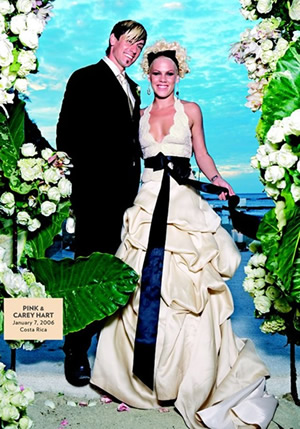 singer pink's wedding dress