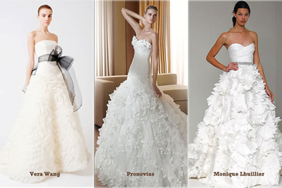 Romantic ballroom style wedding dresses are timeless and they keep coming