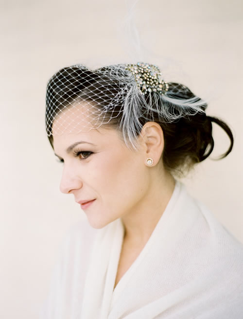 A bridal hairstyle based on a ballet updo in the style of Audrey Hepburn