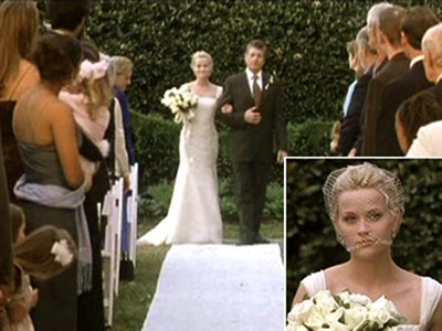 Sweet Home Alabama. Beautiful Reese Witherspoon shows that a cage veil could