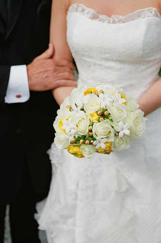 A small wedding bouquet