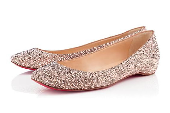 christian louboutin wedding shoes flat